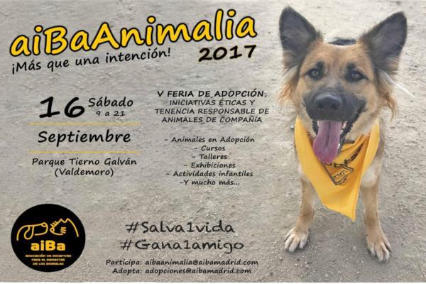 llega lanbspla 5 edicin de aibaanimalia 2017 la feria de adopcin iniciativas ticas y tenencia responsable