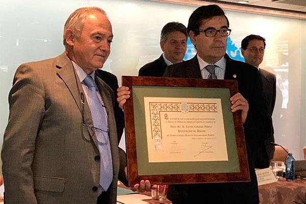 carlos cabanas nuevo presidente de honor de colvema destaca la enorme versatilidad de la profesion veterinaria