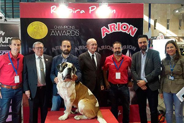 arion brilla con su gama titanium como patrocinador oficial canino de mimascota 2017
