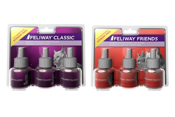 feliway classic y feliway friends ahora disponibles en pack de 3 recambios
