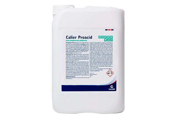 calier proacid el acidificante que higieniza el agua de bebida y el pienso
