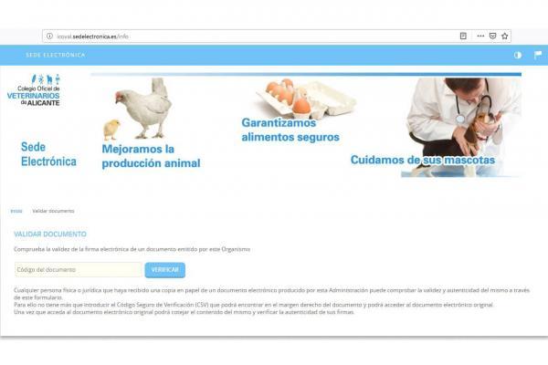 icoval primer colegio de veterinarios de espana con sede electronica