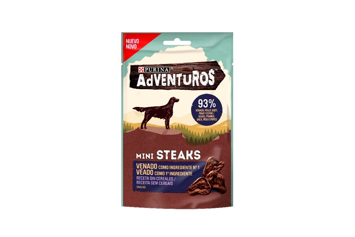 adventuros high meat las nuevas golosinas para perros de purina