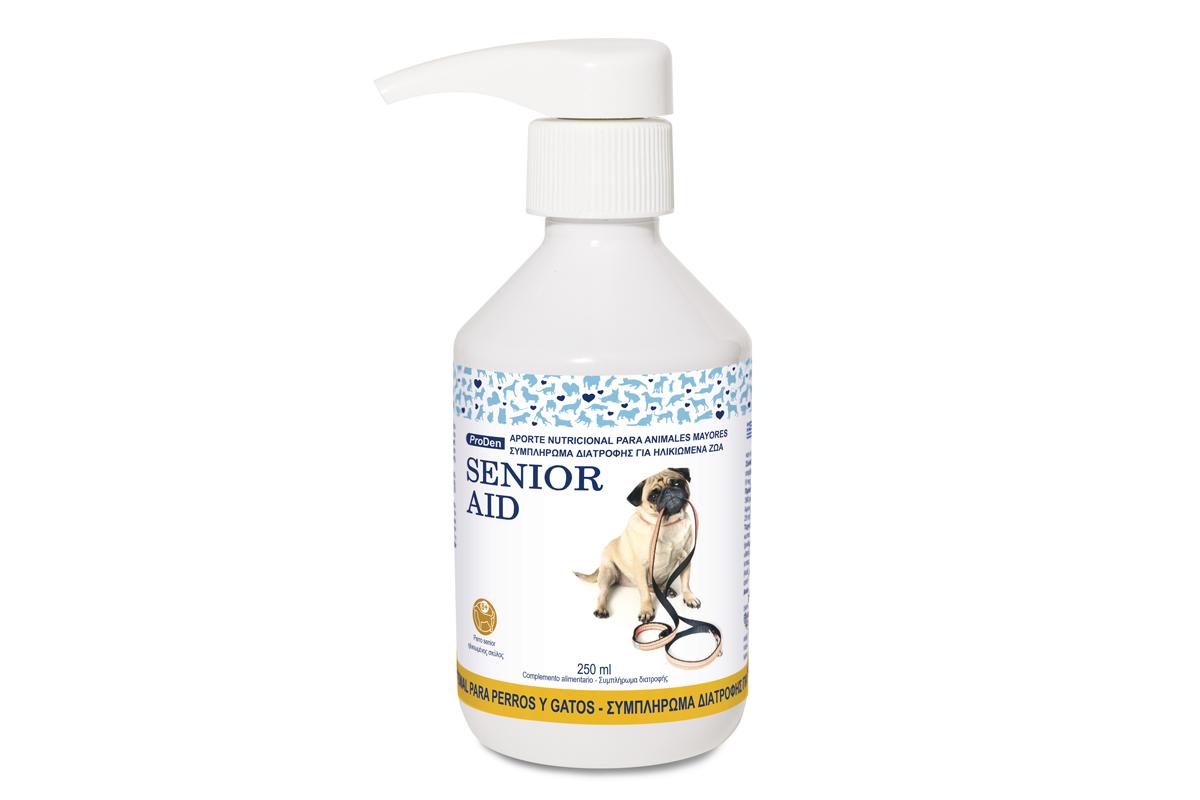senior aid el soporte alimenticio para las mascotas senior