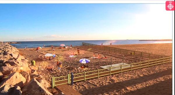 barcelona abriraacute la playa de llevant a los perros durante la temporada de bantildeo