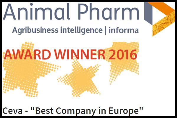 ceva mejor empresa europea en los premios animal pharm 2016