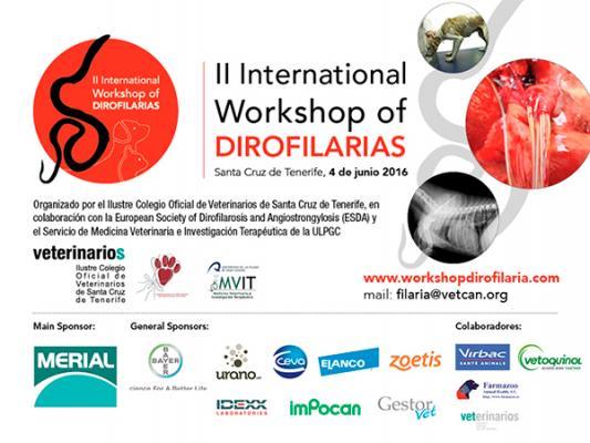 el colegio de veterinarios de tenerife organizaraacute el 4 de junio el ii international workshop of dirofilaria