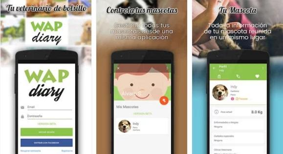 wap diary una app que gestiona los cuidados de animales