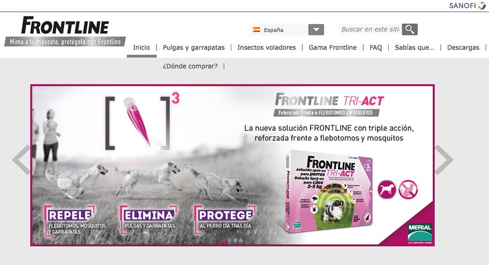 frontline actualiza su web y acerca a los propietarios toda la informacioacuten sobre antiparasitarios nbsp