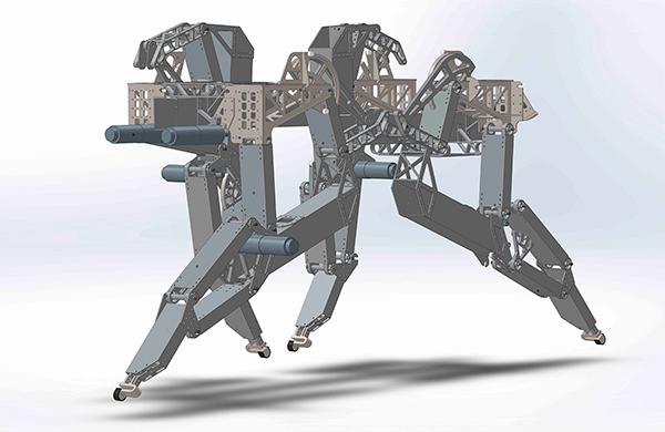 investigadores de la universidad de jaeacuten disentildean un perro robot que mantiene la estabilidad ante situaciones inesperadas
